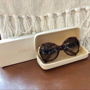 Chloe Light Havana Sunglasses